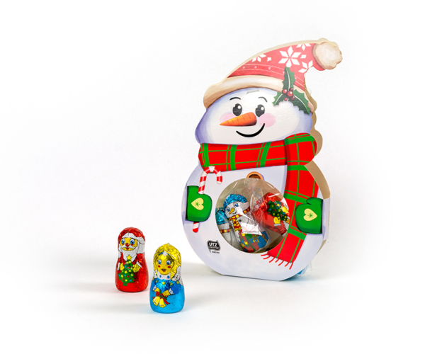 73269 Snowman with Christmass figurines 60 gram