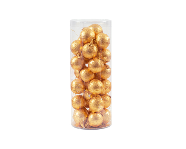 33223 Christmas balls gold foil in tube 15 gram