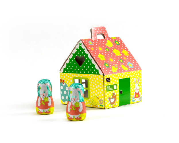 81014 Easter house medium 75 gram
