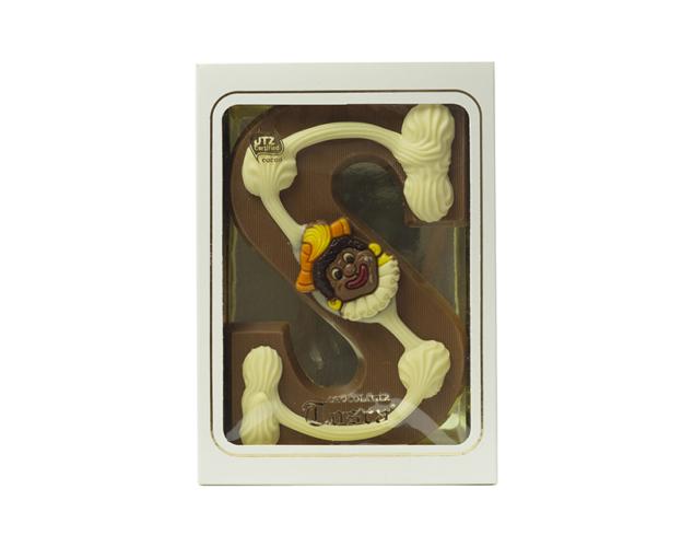 Chocolate letter S decorated milk 240 gram