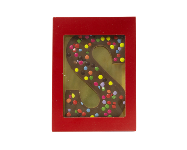 Chocolate letter with lentiles 160 gram