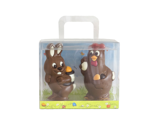 66294 Giftbox Bunny and Chicken 150 gram