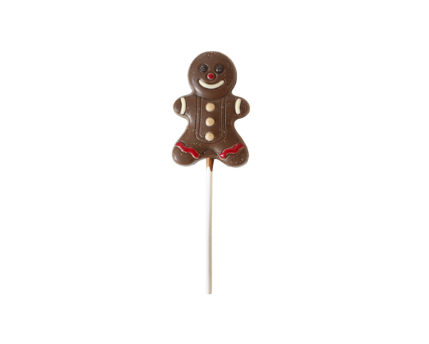 Chocolate Christmas Gingerbread Man Lolly 35 gram