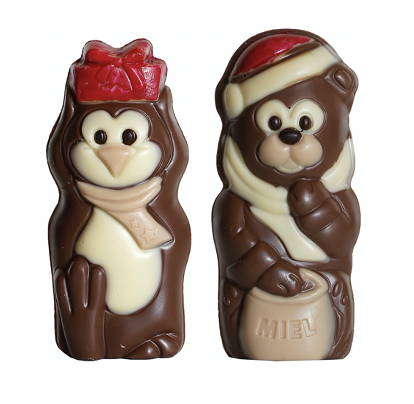 Duo Chocolate Christmas Figurines 100 gram