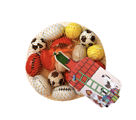 Filled Sports Balls in Net 90 gram