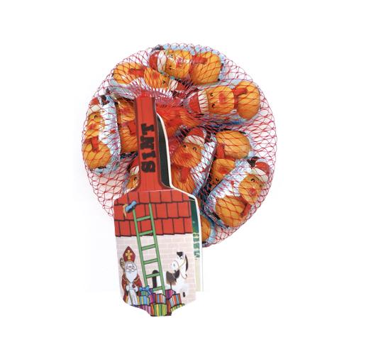 Filled Nicolaus Figurines in Net 100 gram