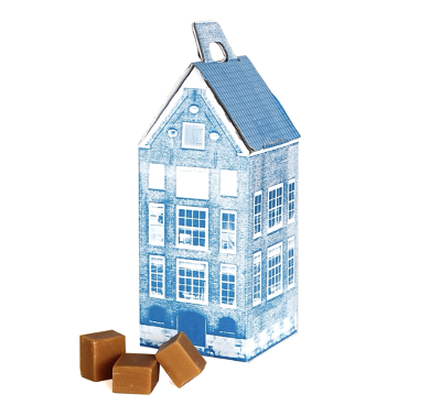 Delft blue house with fudge 150 gram
