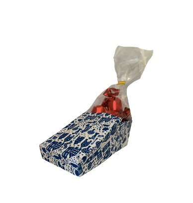 Delft blue shoe with pralines 60 gram