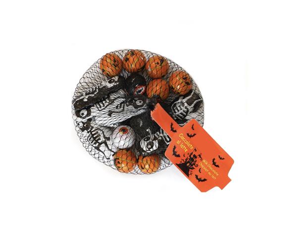 Net with skeleton, eyes and pumpkin 100 gram