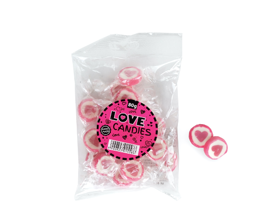 Bag with love candies 80 gram