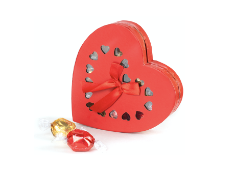 heartbox with pralines 170 gram