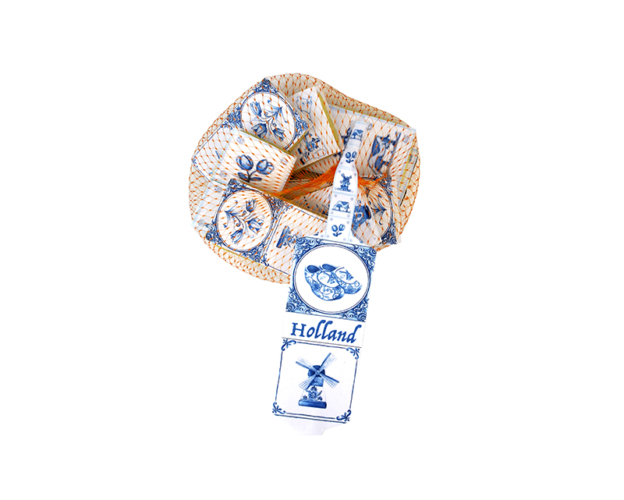 Delft blue net with tile 99 gram