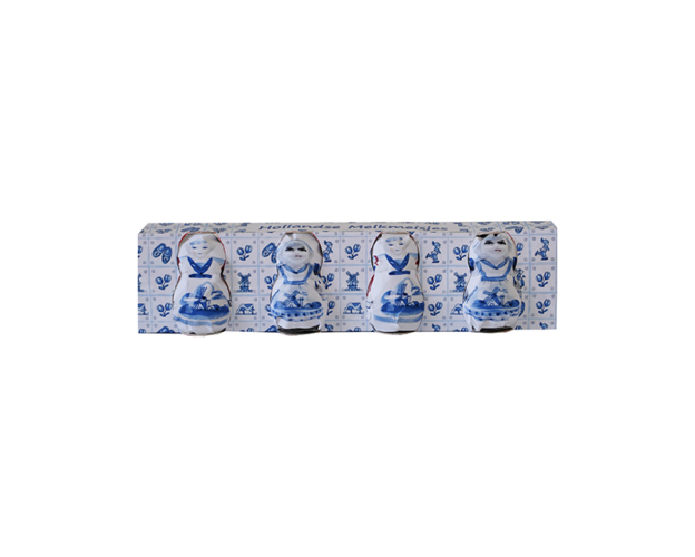 Delft blue milkmaids with spoons 144 gram