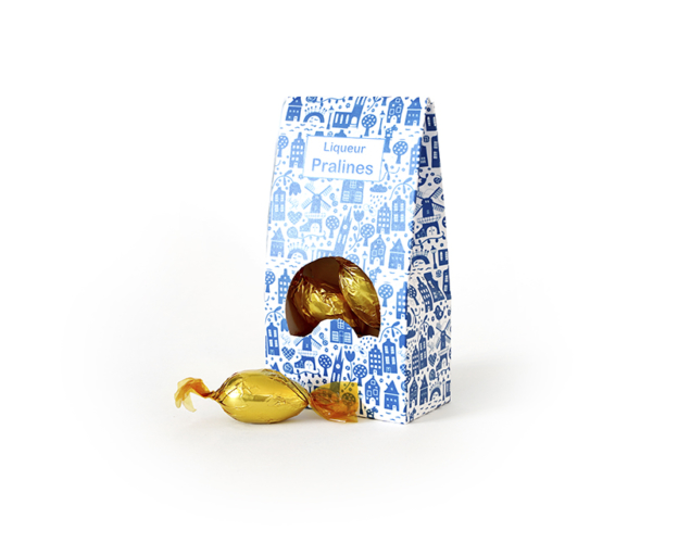 Delft blue liqueur pralines 110 gram