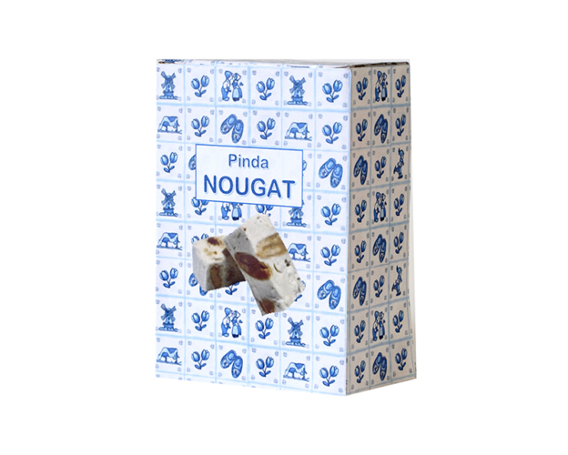Delft blue box with nougat 100 gram