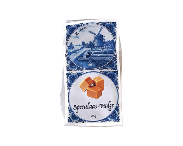 Delft blue bag with fudge 200 gram